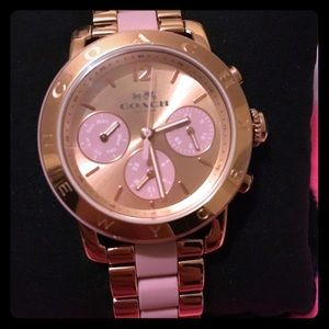 Coach Rose Gold And Pink Sports Watch